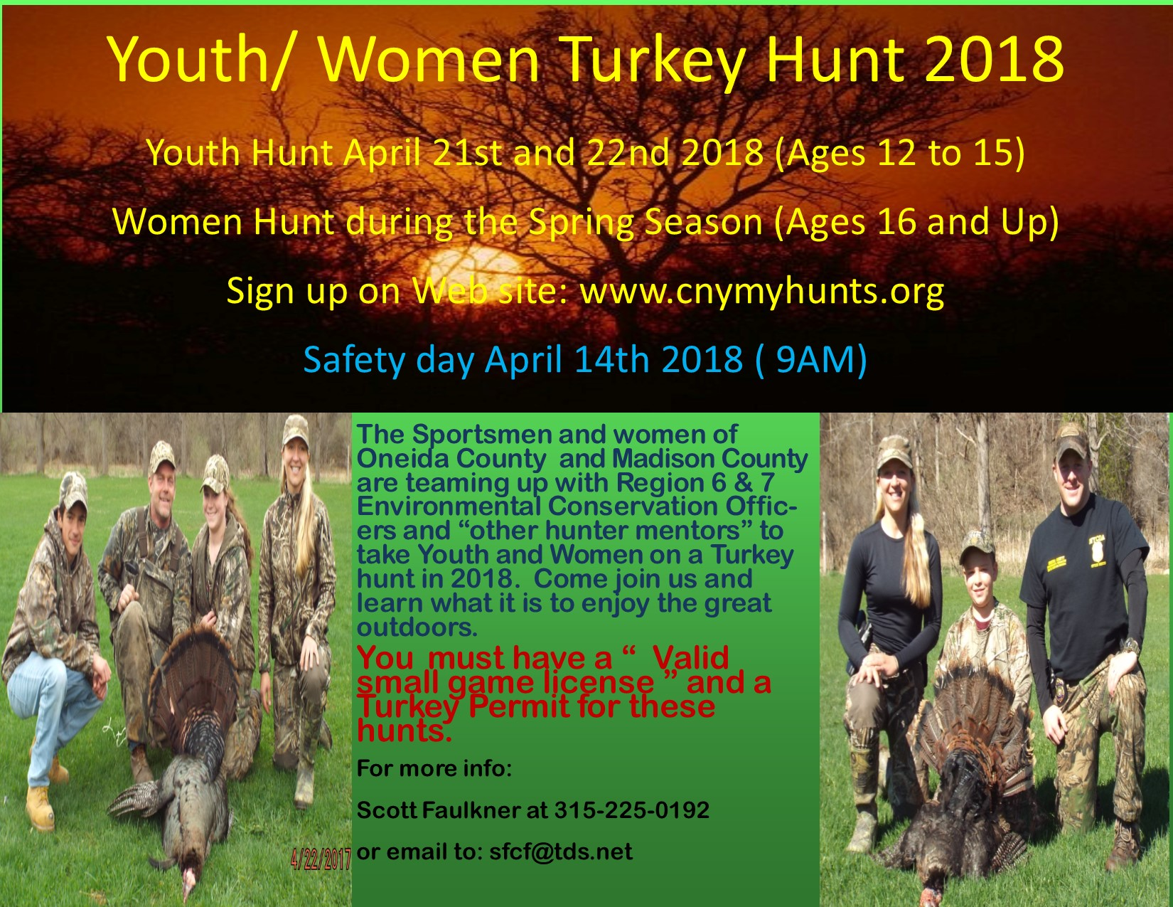 Women Youth Turkey Hunt 2018